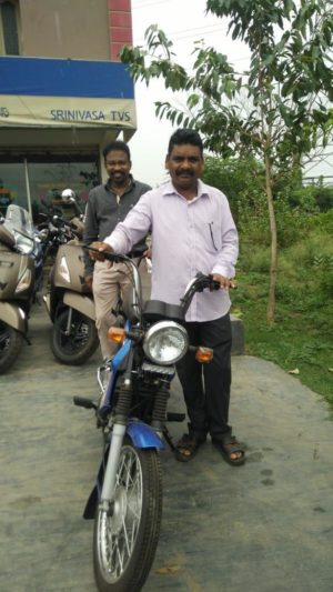 ASHA Ministry Gave Moped to Pastor Sahadevudu Who Pastors 2 Churches in Tribal Hill Country