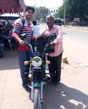 Zion Ministry Gave a Moped to Pastor Kanna Who Pastors 3 Churches in Remote Area
