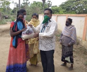 Prem Distributing Food in Tribal Village