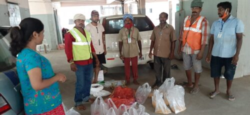 Road and Drain Workers Receive Food Outreach