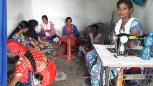 Sewing Class Prepares for Sewing Machines